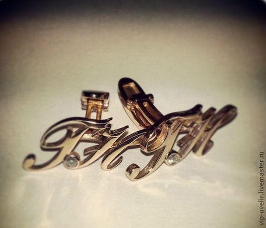 Кольца ручной работы. Ярмарка Мастеров - ручная работа. Купить Запонки из красного золота 585 пробы с бриллиантами весом 0.105 ct. Handmade.