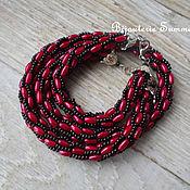 Украшения handmade. Livemaster - original item Harness-necklace and bracelet made of rice, Turkish harness. Handmade.