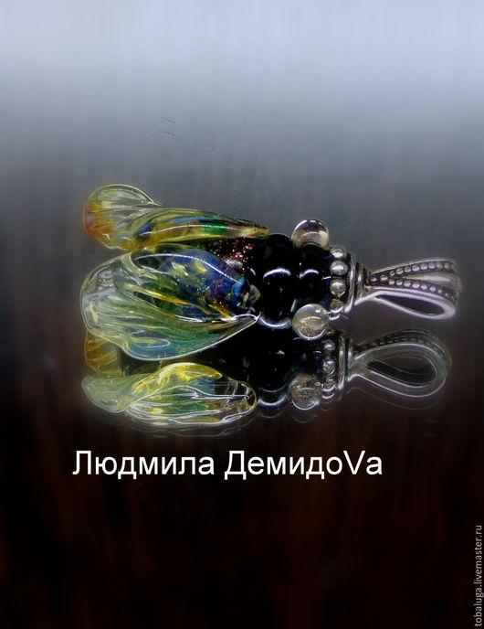 Кулоны, подвески ручной работы. Ярмарка Мастеров - ручная работа. Купить Кулон Муха-цокотуха. Handmade. Комбинированный, кулон лэмпворк