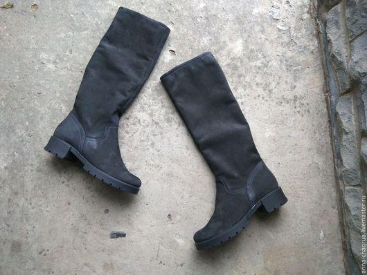 Обувь ручной работы. Ярмарка Мастеров - ручная работа. Купить Высокие женские сапоги Anna Chaqrua. Handmade. Черный