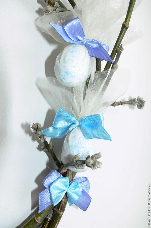 Подарки на Пасху ручной работы. Ярмарка Мастеров - ручная работа. Купить Пасхальный венок. Handmade. Синий, гжель, венок на дверь