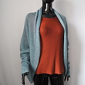 Одежда handmade. Livemaster - original item Wrap cardigan with long sleeves. Handmade.