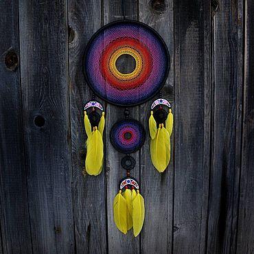 Feng Shui handmade. Livemaster - original item The Large dream catcher rainbow. Handmade.