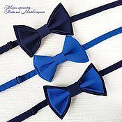 Аксессуары handmade. Livemaster - original item Bow tie blue. Bow tie for men.. Handmade.