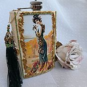 Сувениры и подарки handmade. Livemaster - original item Ladies ` gift flask with decor. Handmade.