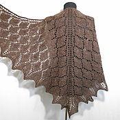 Аксессуары handmade. Livemaster - original item Shawl Knitting Openwork Warm Brown Shawl. Handmade.