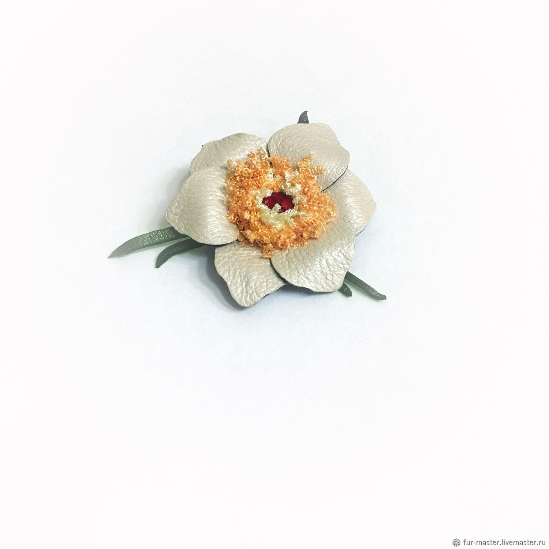 Брошь «Маленький нарцисс», брошь-булавка, брошь-цветок, Брошь-булавка, Москва,  Фото №1