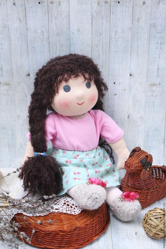 Вальдорфская игрушка ручной работы. Ярмарка Мастеров - ручная работа. Купить Вальдорфская кукла Ася. Handmade. Розовый, вальдорфские куклы
