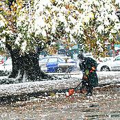 Картины и панно ручной работы. Ярмарка Мастеров - ручная работа Фотокартина  Первый снег. Handmade.