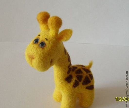 Игрушки животные, ручной работы. Ярмарка Мастеров - ручная работа. Купить игрушка войлочная Жирафа. Handmade. Желтый, Сухое валяние