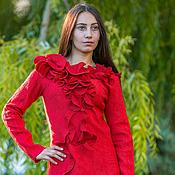 Одежда handmade. Livemaster - original item Wool dress Passion. Handmade.