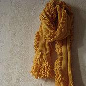 Аксессуары ручной работы. Ярмарка Мастеров - ручная работа Шарфик декоративный желтый. Handmade.