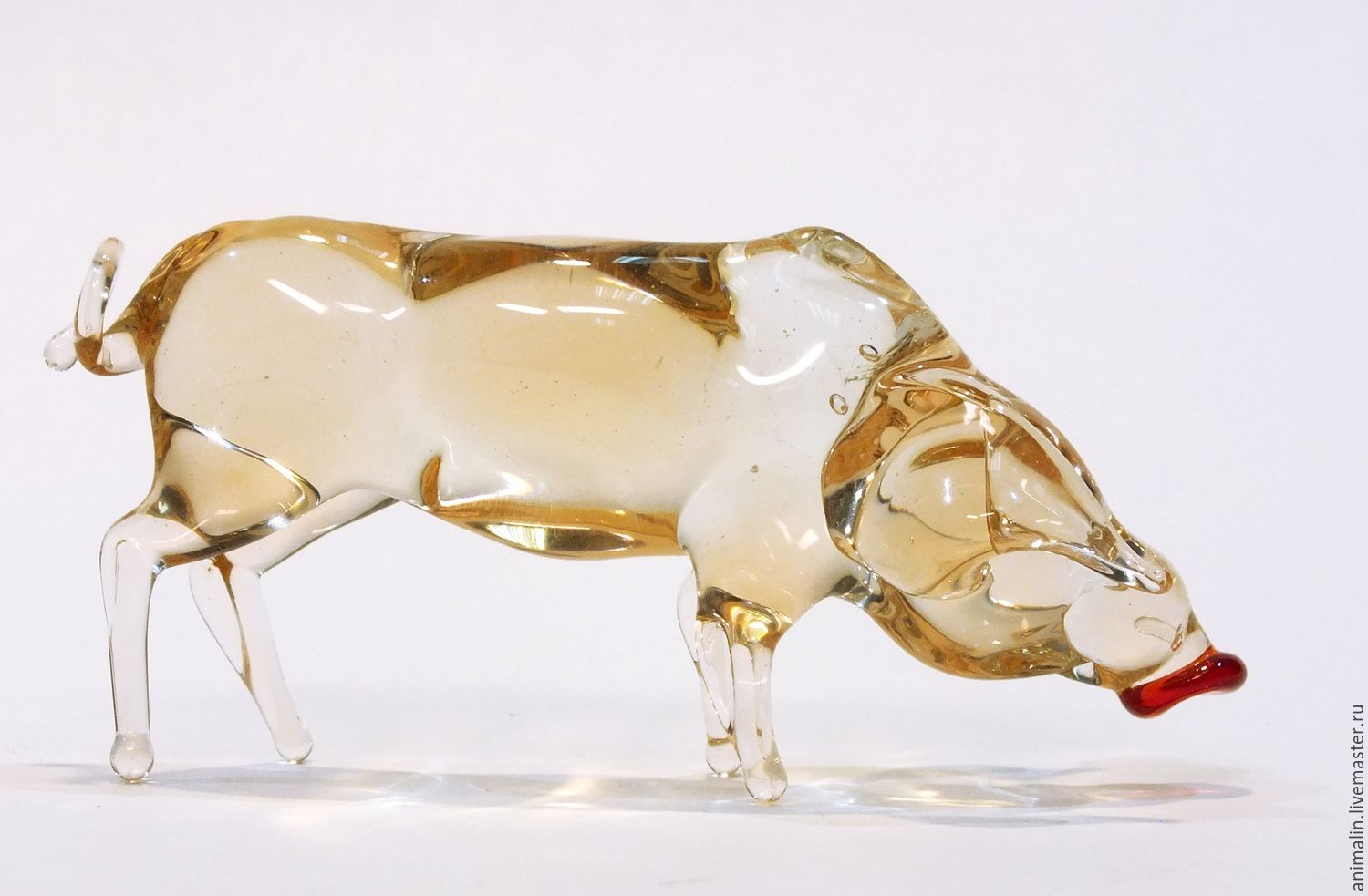 Decorative figurine made of colored glass pig Euphrosyne from Zhodzina, Figurines, Moscow,  Фото №1