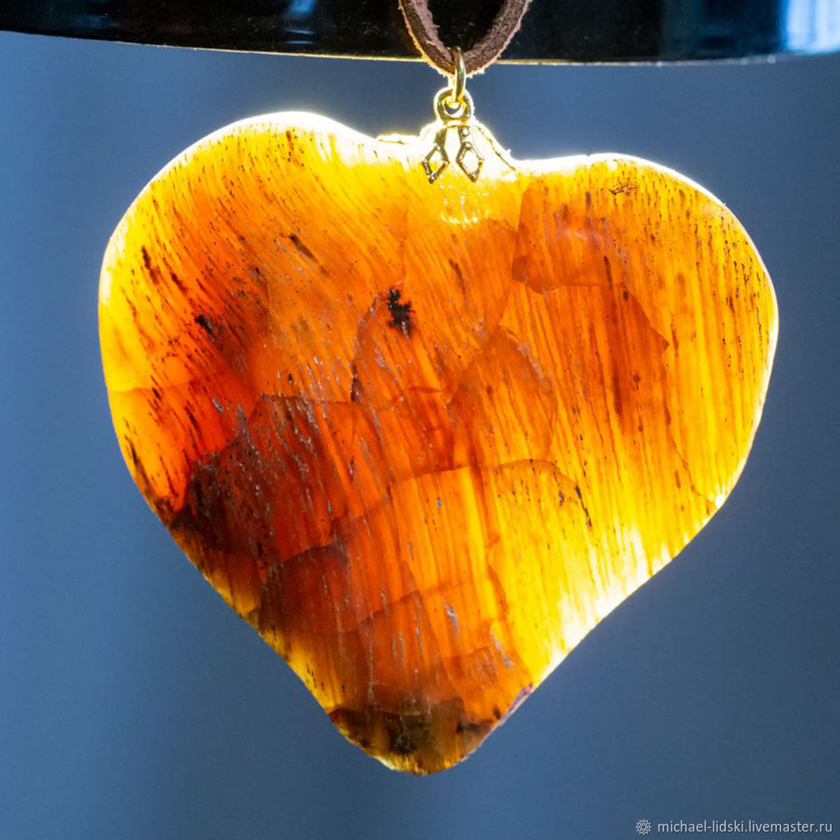 LEAF OR HEART? Petrified wood pendant, Pendants, Christchurch,  Фото №1