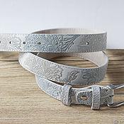 Аксессуары handmade. Livemaster - original item A bright belt with Delicate embossing, width 2.9 cm. Handmade.