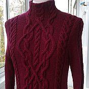 Одежда ручной работы. Ярмарка Мастеров - ручная работа Пуловер бордовый. Handmade.