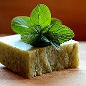 Косметика ручной работы. Ярмарка Мастеров - ручная работа Mint tea, натуральное туалетное мыло, 100-110г. Handmade.