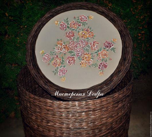"""Мебель ручной работы. Ярмарка Мастеров - ручная работа. Купить Короб плетеный """"Большая корзина садовых роз"""" (огромный). Handmade."""