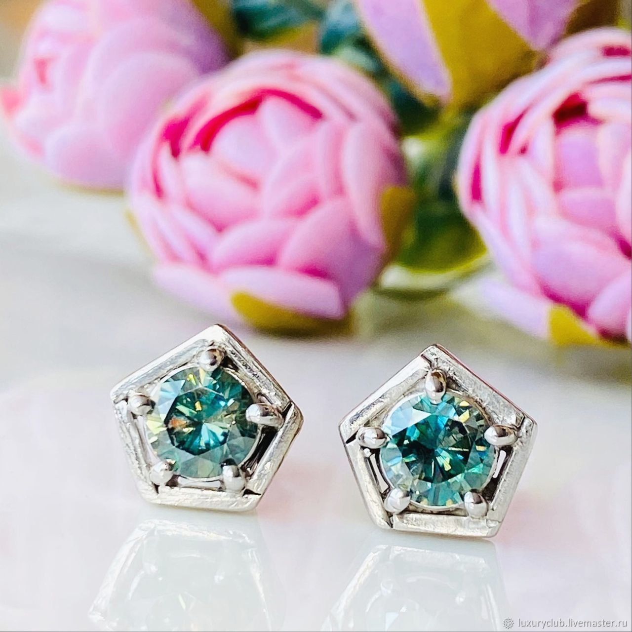 Poussettes with diamonds ' Ice ' to buy, Stud earrings, Tolyatti,  Фото №1