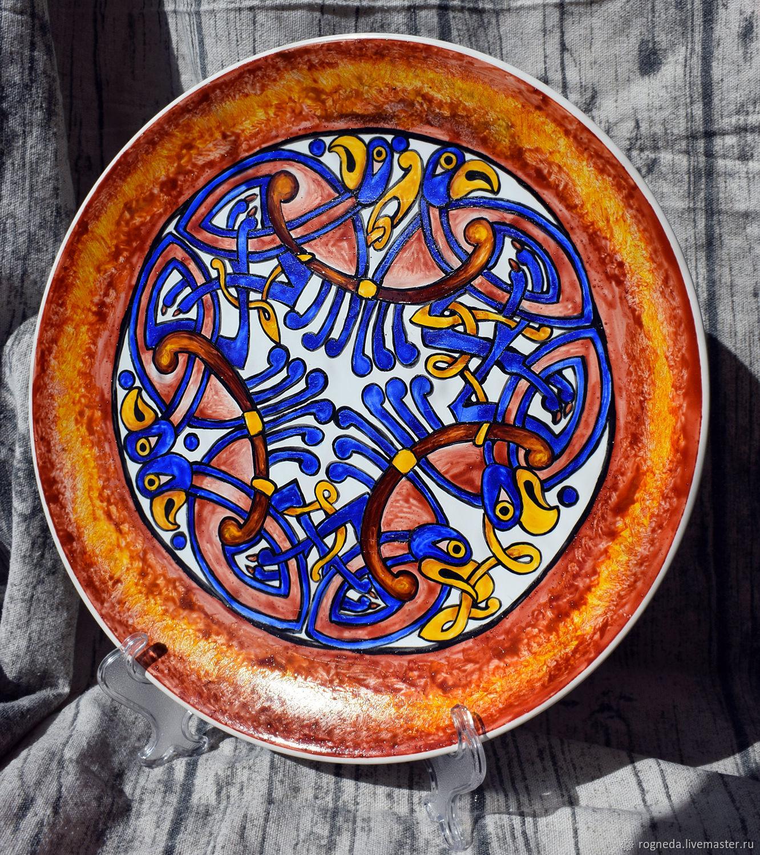 Кельтское блюдо с птицами, Блюдо, Москва,  Фото №1