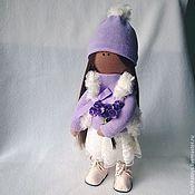 Куклы и игрушки ручной работы. Ярмарка Мастеров - ручная работа Лавандовая девочка. Handmade.