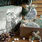 """Подарки к праздникам ручной работы. Ярмарка Мастеров - ручная работа -10% """"Старинное Рождество""""-набор елочных игрушек. Handmade."""