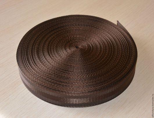 Шитье ручной работы. Ярмарка Мастеров - ручная работа. Купить Лента ременная 30 мм коричневая. Handmade. Швейная фурнитура