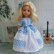 """Одежда для кукол ручной работы. Ярмарка Мастеров - ручная работа Комплект """"васильковый"""" для Паола Рейна. Handmade."""