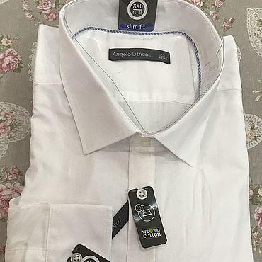 Винтаж ручной работы. Ярмарка Мастеров - ручная работа Винтажная одежда: Рубашки: винтаж Angelo Litrico рубашка мужская. Handmade.