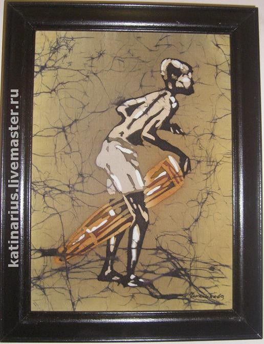 """Этно ручной работы. Ярмарка Мастеров - ручная работа. Купить """"В  Далёкой Африке"""". Handmade. Картины батик, шёлк"""