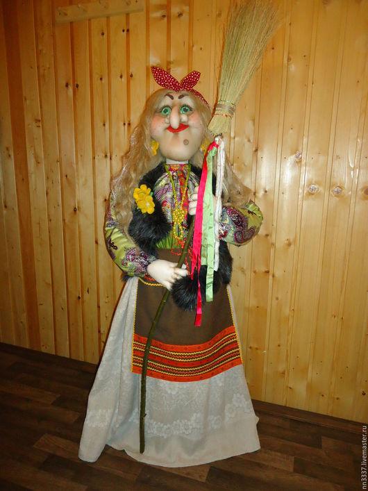Сказочные персонажи ручной работы. Ярмарка Мастеров - ручная работа. Купить Интерьерная кукла Баба-Яга. Handmade. Комбинированный, подарок