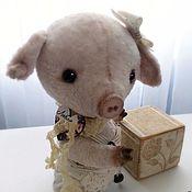 Куклы и игрушки ручной работы. Ярмарка Мастеров - ручная работа Тедди поросёнок Тутти. Handmade.
