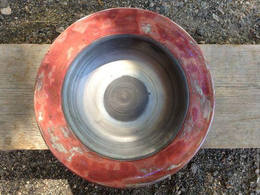 """Тарелки ручной работы. Ярмарка Мастеров - ручная работа. Купить Эксклюзивная керамика ручной работы. Блюдо """"Медное"""". Handmade."""