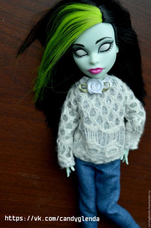 Одежда для кукол ручной работы. Ярмарка Мастеров - ручная работа. Купить Свитер и джинсы для кукол Monster High. Handmade. Комбинированный