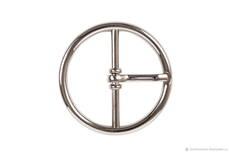 Пряжка круглая 32 мм, никель, Фурнитура для шитья, Москва, Фото №1