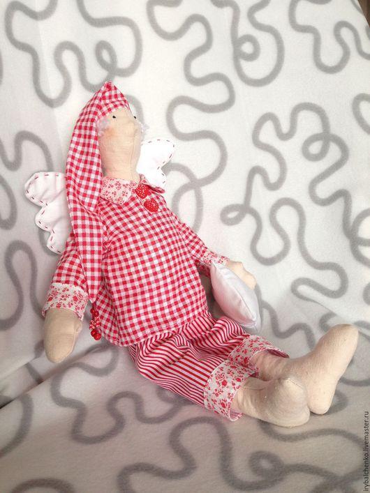 Куклы Тильды ручной работы. Ярмарка Мастеров - ручная работа. Купить тильда-сплюшка-мальчик. Handmade. Ярко-красный, мальчик