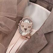 Украшения handmade. Livemaster - original item Cat. Almost A Princess.Textile brooch with embroidery. Handmade.