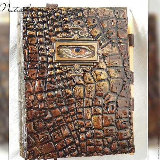 """Блокноты ручной работы. Ярмарка Мастеров - ручная работа. Купить Блокнот """" Всевидящее око"""". Handmade. Коричневый, блокноты, прочный"""