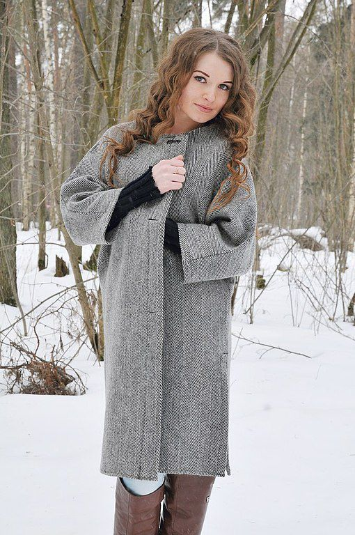 Верхняя одежда ручной работы. Ярмарка Мастеров - ручная работа. Купить Пальто женское демисезонное серое драповое. Handmade. Серый