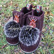 """Обувь ручной работы. Ярмарка Мастеров - ручная работа Валенки, модель """"Зимняя рябина"""". Handmade."""