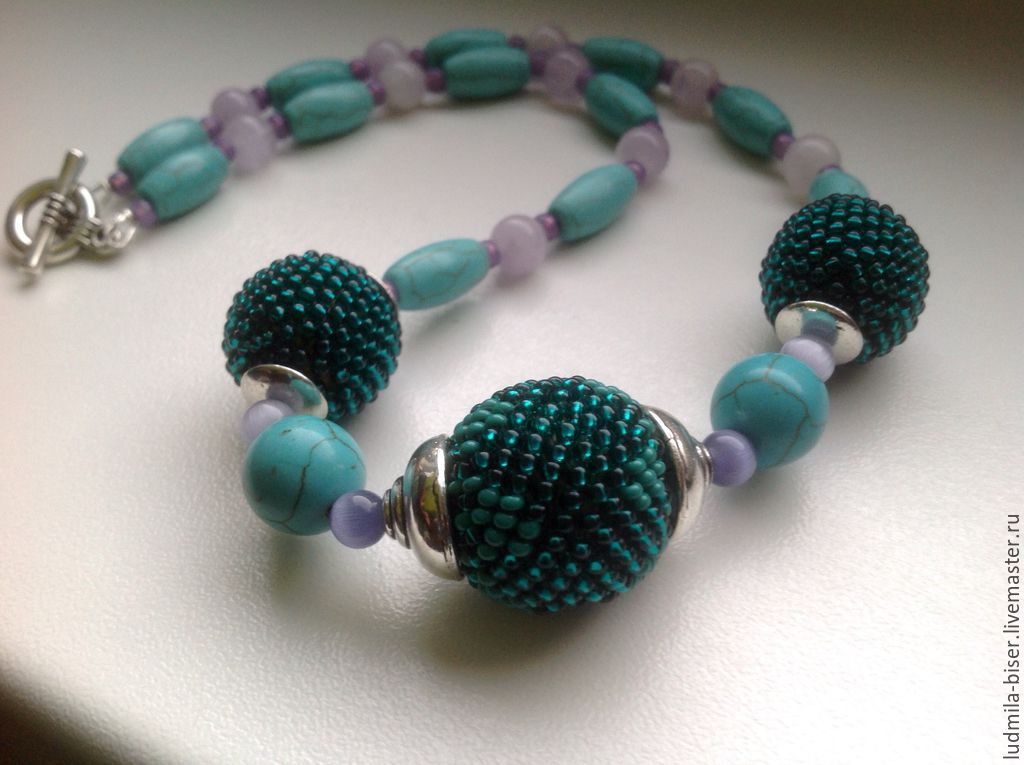 Necklace - beads 'Sea breeze', Necklace, Moscow,  Фото №1