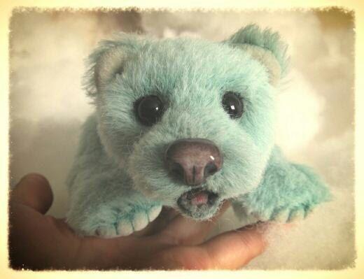 Мишки Тедди ручной работы. Ярмарка Мастеров - ручная работа. Купить Мятный мишка. Handmade. Мятный, альпака