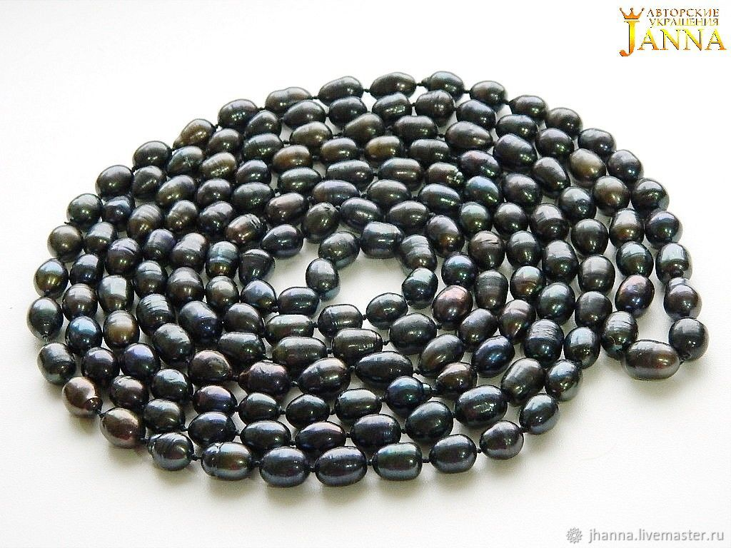 Pearl. Classic string of pearls from natural pearls 2 meters, Necklace, Volgograd,  Фото №1