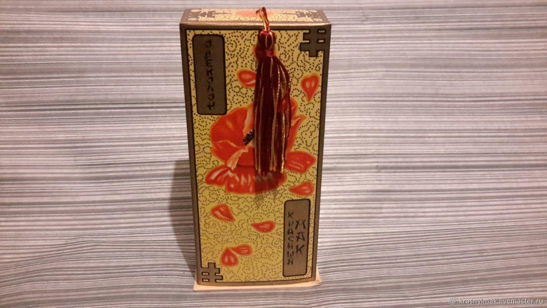 Красивая коробка с шелковой кисточкой : так мило!