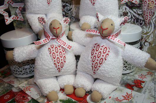 Игрушки животные, ручной работы. Ярмарка Мастеров - ручная работа. Купить текстильная игрушка овечка. Handmade. Белый, овечка Тильда