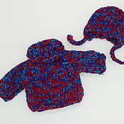 Куклы и игрушки handmade. Livemaster - original item Kit for doll Sweater and Hat. Handmade.