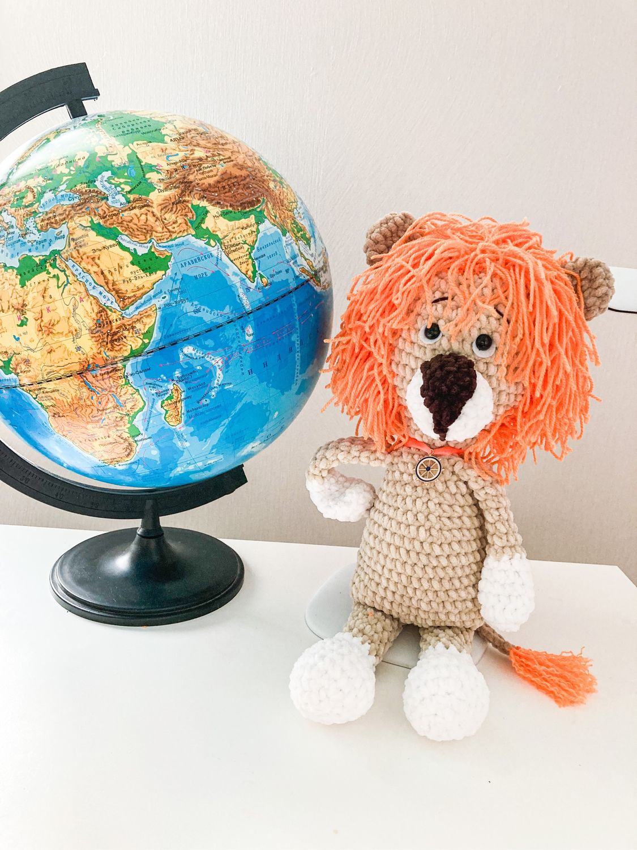 Лев амигуруми, Мягкие игрушки, Хабаровск,  Фото №1