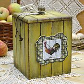 Подарки к праздникам ручной работы. Ярмарка Мастеров - ручная работа Кухонный короб Золотой петушок. Handmade.