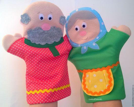 Развивающие игрушки ручной работы. Ярмарка Мастеров - ручная работа. Купить Игрушки на руку (перчаточные игрушки). Handmade. Перчаточная кукла