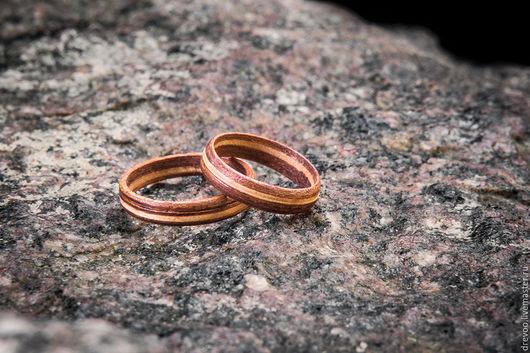Кольца ручной работы. Ярмарка Мастеров - ручная работа. Купить деревянные кольца. Handmade. Коричневый, кольца из дерева, на деревянную свадьбу
